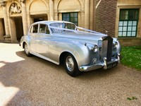 Classic car at a wedding reception at Eltham Palace, London