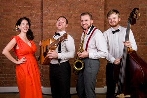 The Vintage Strollers - acoustic roaming band to hire for wedding receptions and corporate events throughout the UK and internationally