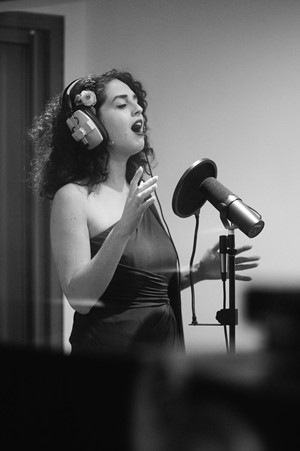 Down for the Count Concert Orchestra - Hannah Castleman jazz vocalist performing at Cold Stores Studios, Kent