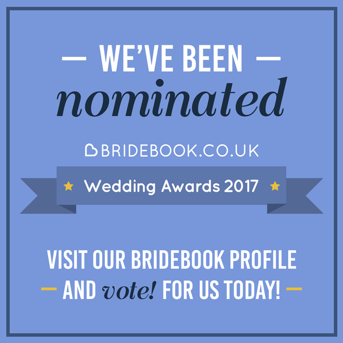 Vote for Down for the Count in the Bridebook wedding awards