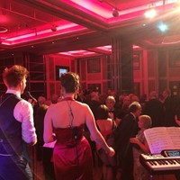 Function band performing for a charity ball in London
