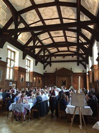 Wedding meal at Selwyn College, Cambridge