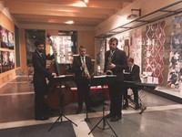 Jazz quartet performing at corporate event in London