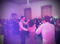 First dance with live music at Norfolk wedding reception