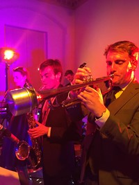 Live swing band for hire at Norfolk wedding reception