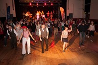 Vintage band performing for swing dance event in Birmingham