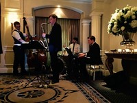 Live jazz band performing at The Berkeley Hotel, London