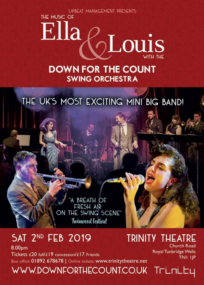 The Music of Ella & Louis with The Down for the Count Swing Orchestra