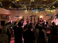 Live band performing swing and soul music for a wedding reception in Norfolk