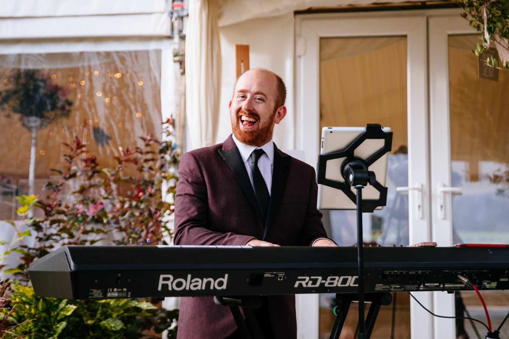 Live wedding pianist for wedding drinks reception live music