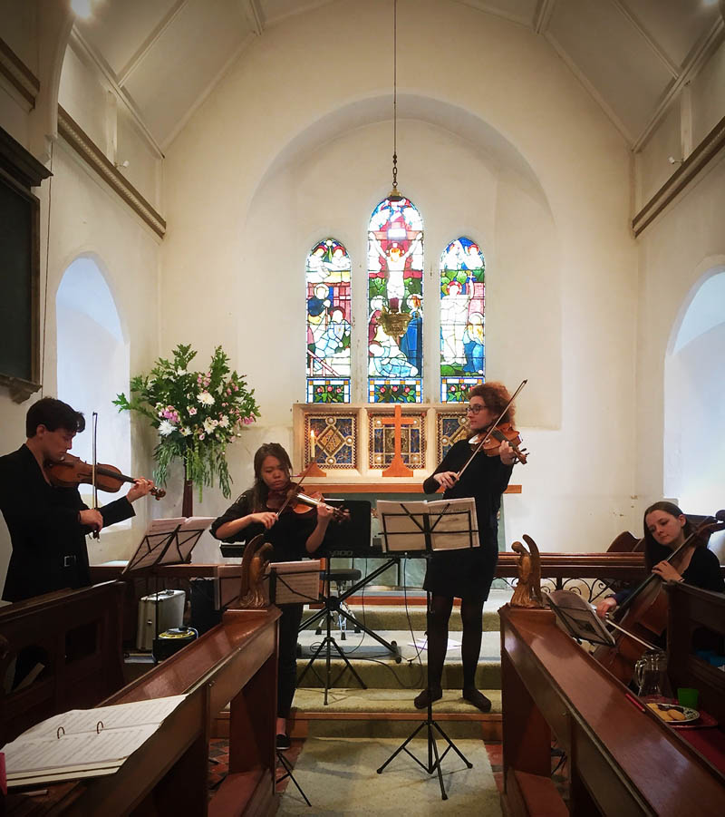 String quartet to hire for wedding ceremony in Surrey