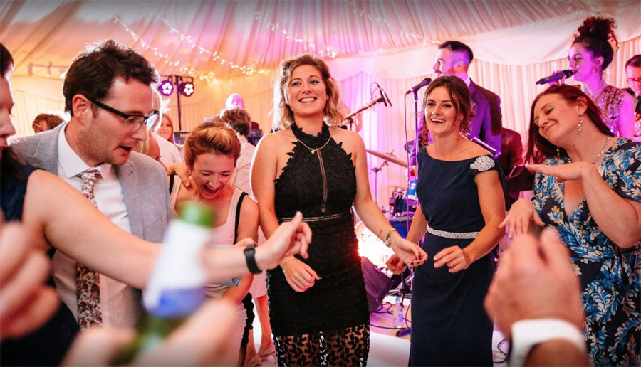 Live music for marquee wedding in Surrey