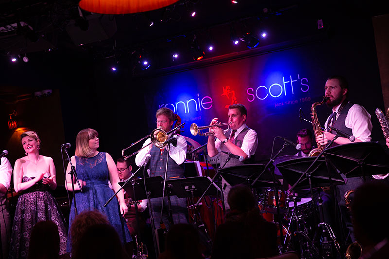 Down for the Count performing at Ronnie Scott's Jazz Club London