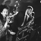Down for the Count's swing, soul and pop function band performing at a wedding reception in Hampshire