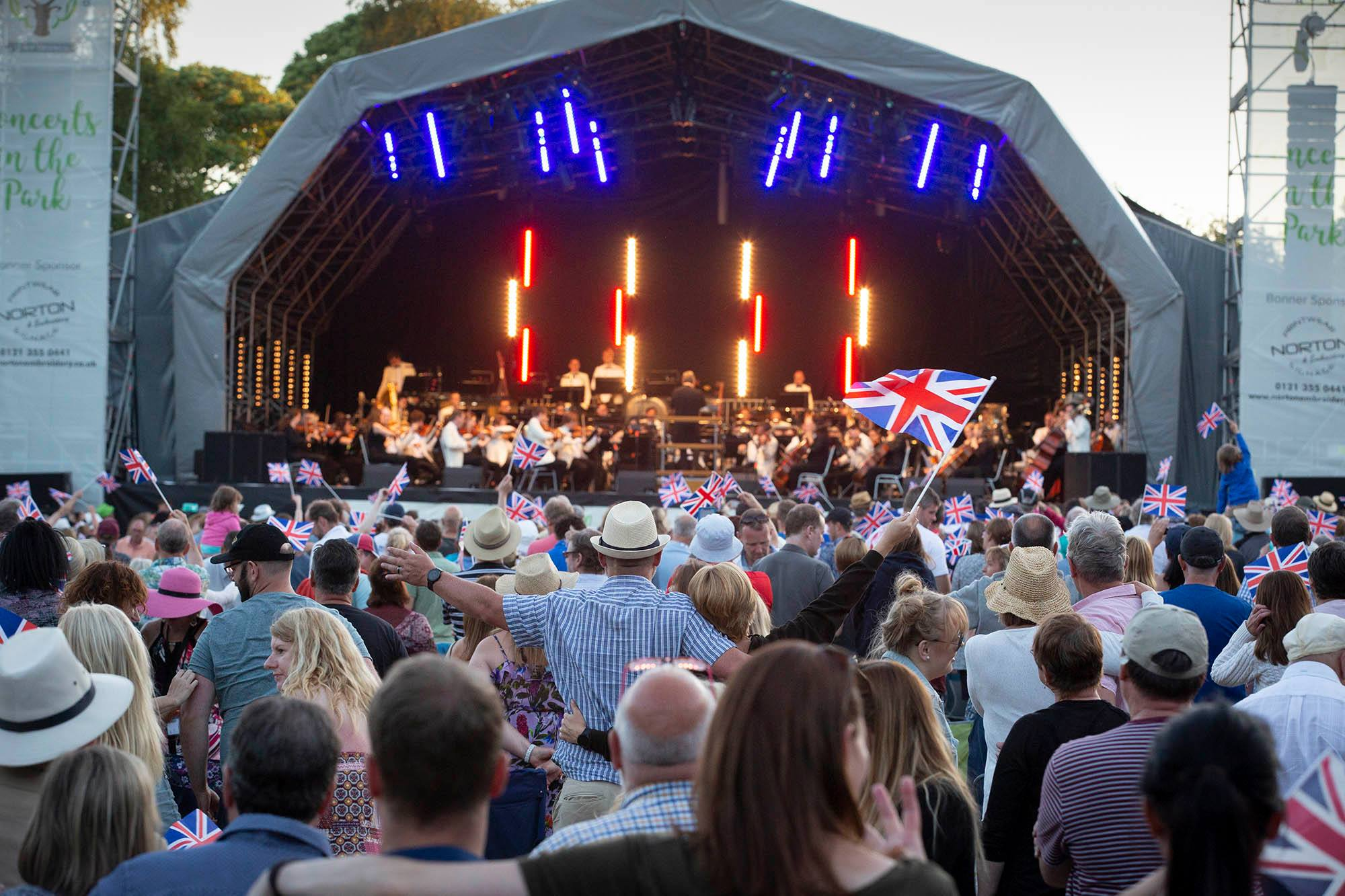 Down for the Count Swing Orchestra and Motown Collective supporting The City Of Birmingham Symphony Orchestra at Sutton Coldfield Concerts in the Park Festival