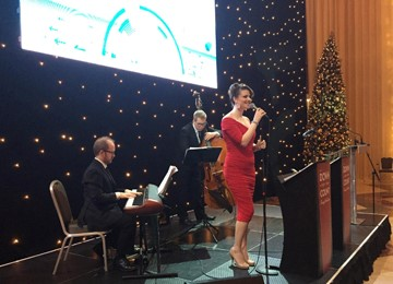 Christmas party band corporate event, Canary Wharf London