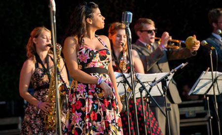 Down for the Count Swing Orchestra - live musicians performing vintage swing and big band music at vintage festivals and events in the UK and internationally