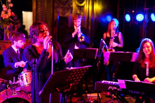 Down for the Count performing at Dartmouth House, a wedding venue in Mayfair London