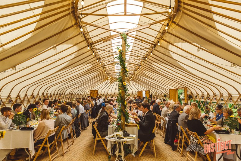 Dinner Was In A Stunning Yurt The Garden Of An English Country House