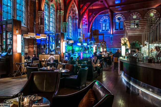 New year's eve party at the Booking Office restaurant, London