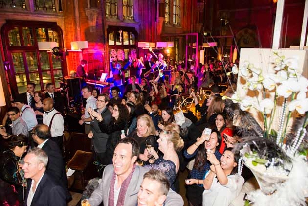 New Year's Eve countdown with live music in London