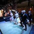 Vintage swing dancers at La Mamounia Hotel, Marrakech, Morocco for a Great Gatsby themed event