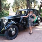 Vintage car at a Great Gatsby themed event at La Mamounia Hotel, Marrakech, Morocco for a Great Gatsby themed event