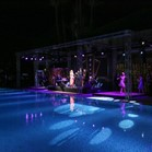 Live band in performance at Great Gatsby themed event, La Mamounia Hotel Marrakech