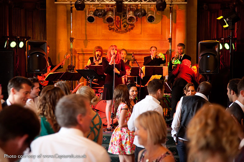 Swing dancing to live music at Pinewood Studios