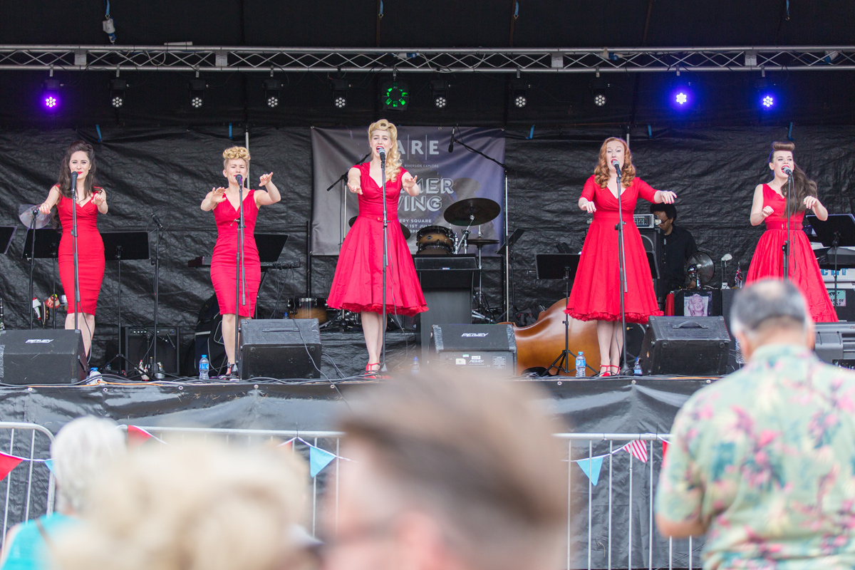 The Totsie Rollers performing at Woolwich Arsenal public event