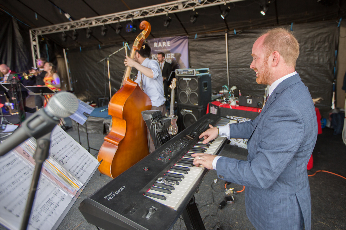 Down for the Count vintage swing orchestra live at Royal Arsenal Woolwich, London community event