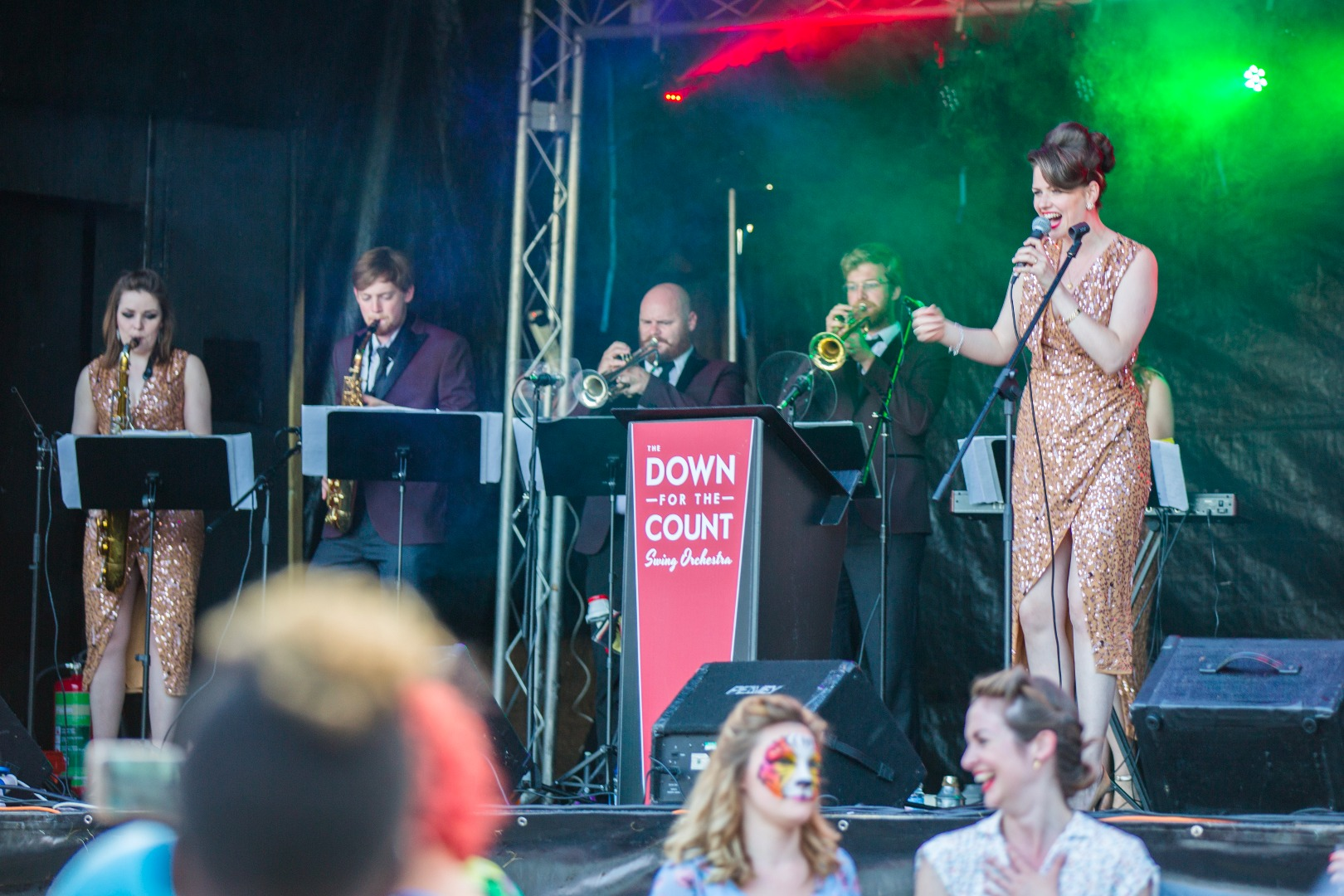 The Down for the Count Motown Collective in action at the Woolwich Arsenal London public event