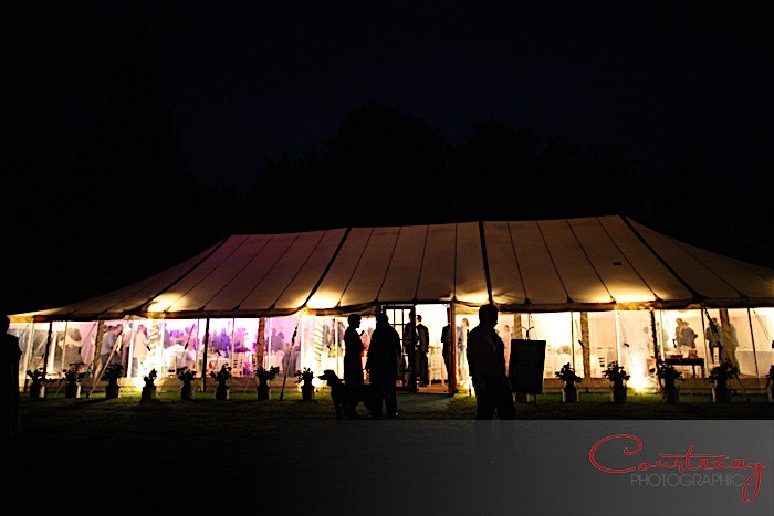 Dorset marquee wedding with live music from swing and soul band Down for the Count